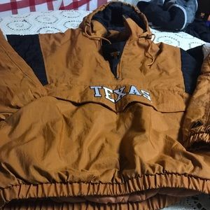 VTG Texas Longhorns Pullover Hooded Half Zip  XL